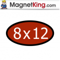 8 x 12 Oval Thin Plain Magnet