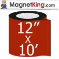 "12"" x 10' Roll Medium Glossy White Magnet"
