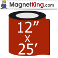 "12"" x 25' Roll Medium Glossy White Magnet"