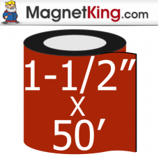 1.5 in. x 50' Roll Medium Dry Erase White Magnet