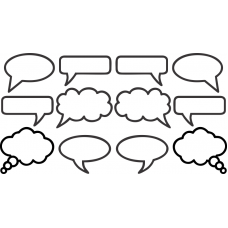 Speech Bubble Magnets - 12 pack