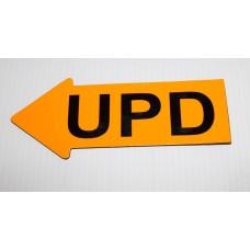 "2"" x 5"" Fluorescent Orange Appraiser Arrows - 24 UPD"