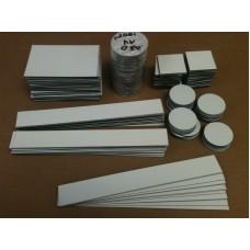 """1""""-4"""" CIRCLES - PLAIN Magnet, 250 pcs, FREE SHIPPING"""