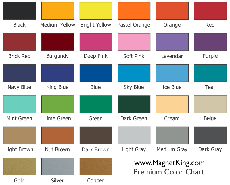 Blue green color chart images Shades of orange colour chart
