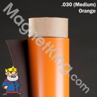 orange magnetic sheeting