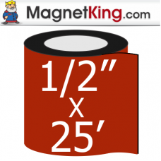 0.50 in. x 25' Roll Thick Matte White Magnet