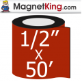 0.50 in. x 50' Roll Medium Matte White Magnet