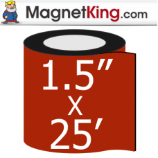 1.5 in. x 25' Roll Thick Peel n Stick Adhesive Magnet Tape