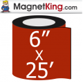 6 in. x 25' Roll Thick Matte White Magnet