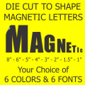 Die Cut Magnetic Letters