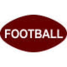 Football - 6 x 10 in. Magnet Die Cut