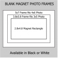 4x6 & 3x5 Magnetic Photo Frame Kit