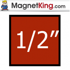 0.5 in. Square Medium Plain Magnet