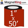 1 in. x 50' Roll Thin Glossy White Magnet