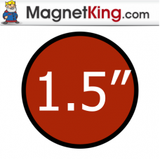 1.5 in. Circle Thin Plain Magnet