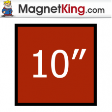 10 in. Square Thick Plain Magnet