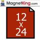 "12"" x 24"" Sheet Thin Peel n Stick Adhesive Magnet"