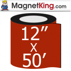 "12"" x 5' Roll Thin Matte White Magnet"