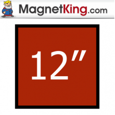 12 in. Square Thick Plain Magnet