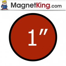 1 in. Circle Thin Plain Magnet