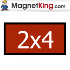 2 x 4 Rectangle Thin Glossy White Magnet