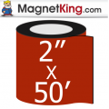 2 in. x 50' Roll Medium Glossy White Magnet