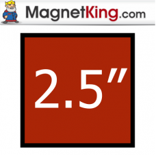 2.5 in. Square Thin Plain Magnet
