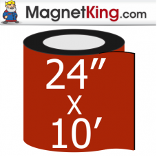 "24"" x 10' Roll Thin Matte White Magnet"