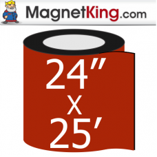 "24"" x 25' Roll Thick Matte White Magnet"