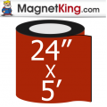 "24"" x 5' Roll Medium Glossy White Magnet"