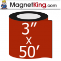 3 in. x 50' Roll Thin Glossy White Magnet