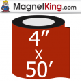 4 in. x 50' Roll Medium Glossy White Magnet