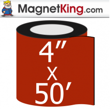 4 in. x 50' Roll Thin Matte White Magnet