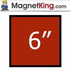 6 in. Square Thick Plain Magnet