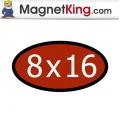8 x 16 Oval Thick Premium Colors Glossy Magnet