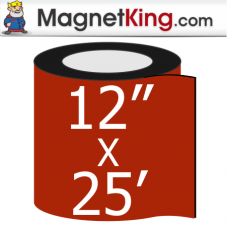 "12"" x 25' Roll Thick Plain Magnet"
