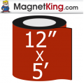 "12"" x 5' Roll Medium Matte White Magnet"