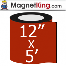 "12"" x 5' Roll Medium Glossy White Magnet"