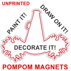 Cheerleader Pompoms - 8.5x10 in. Magnet Die Cut