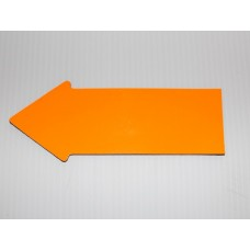 "2"" x 5"" Fluorescent Orange Appraiser Arrows - 24 Plain No Text"